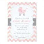 pinkbabyshowerinvitations_pink_and_white_chevron_stroller_baby_shower_invitation